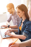 College students working together Stock Photo