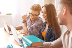 College students working together Royalty Free Stock Photos