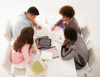College Students in a Workshop Together Royalty Free Stock Photos
