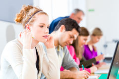College students writing test Stock Photography