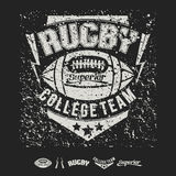 College team American football emblem and icons Royalty Free Stock Images