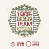 College team rugby retro emblem and design elements Stock Images
