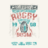 College team rugby retro emblem and design elements Royalty Free Stock Photography