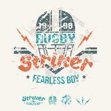 College team rugby retro emblem and design elements Royalty Free Stock Image