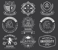 College and University badges 2 WB Royalty Free Stock Images
