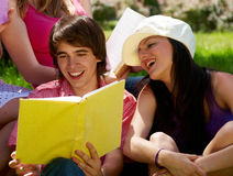 College or university students studying Stock Photography