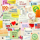 College wall adds. Abstract background Royalty Free Stock Images