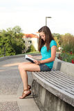 College woman studying Royalty Free Stock Photos
