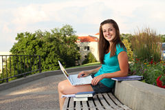 College woman studying Royalty Free Stock Photo
