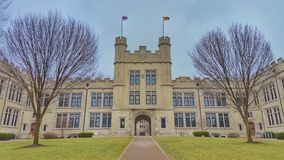 College of Wooster, Ohio. Decorative building on campus of the College of Wooster, Wayne County Ohio Royalty Free Stock Image