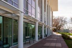 Collegecampus stockfoto