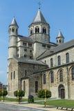 Collegekirche des Heiligen Gertrud, Nivelles, Belgien Lizenzfreie Stockbilder