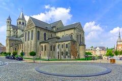 Collegekirche des Heiligen Gertrud, Nivelles, Belgien Stockfotografie