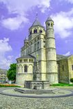 Collegekirche des Heiligen Gertrud, Nivelles, Belgien Stockfotos
