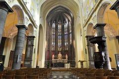 Collegekirche von St Denis von Lüttich Stockfotografie