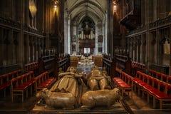Collegekirche von St Mary, Warwick Stockfotos