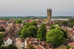 Collegekirche von St Mary, Warwick, Großbritannien Stockfotos
