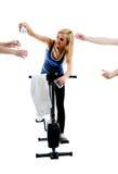 Colleghi assetati di ginnastica Fotografie Stock