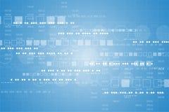 Colleghi che rappresenta la base di dati chiave in digitale illustrazione di stock