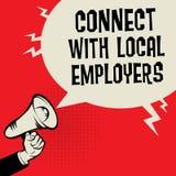 Colleghi con i datori di lavoro locali illustrazione di stock