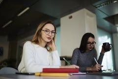 Colleghi delle donne che lavorano nell'ufficio Immagine Stock Libera da Diritti