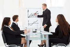 Colleghi di Giving Presentation To dell'uomo d'affari Fotografia Stock