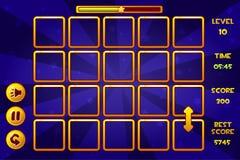 Colleghi i giochi Match3 ed i bottoni, beni del gioco royalty illustrazione gratis