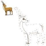 Colleghi i punti al gioco educativo animale di tiraggio illustrazione vettoriale