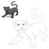 Colleghi i punti al gioco educativo animale di tiraggio illustrazione di stock