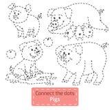 Colleghi i punti (animali da allevamento messi, famiglia del maiale) illustrazione di stock