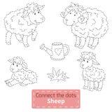 Colleghi i punti (animali da allevamento messi, famiglia delle pecore) illustrazione vettoriale