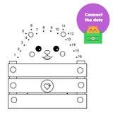 Colleghi i punti dai numeri Gioco educativo per i bambini ed i bambini Tema degli animali, criceto del fumetto illustrazione di stock