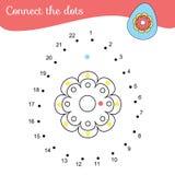 Colleghi i punti dai numeri Gioco educativo per i bambini ed i bambini Uovo di Pasqua royalty illustrazione gratis