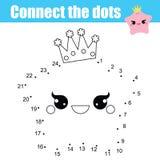 Colleghi i punti dal gioco educativo dei bambini di numeri E royalty illustrazione gratis