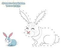 Colleghi i punti e disegni il coniglio sveglio del fumetto Gioco educativo royalty illustrazione gratis