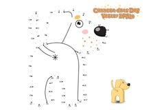 Colleghi i punti e disegni il cucciolo sveglio Labrador del cane del fumetto Educa Fotografie Stock Libere da Diritti