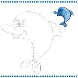 Colleghi i punti e la pagina di coloritura illustrazione di stock