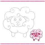 Colleghi i punti e la pagina di coloritura royalty illustrazione gratis