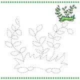 Colleghi i punti e la pagina di coloritura illustrazione vettoriale
