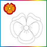 Colleghi i punti e la pagina di coloritura Foglio di lavoro - gioco per i bambini Linea tratteggiata di restauro - gioco della tr illustrazione di stock