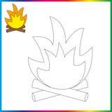 Colleghi i punti e la pagina di coloritura Foglio di lavoro - gioco per i bambini Linea tratteggiata di restauro - gioco della tr illustrazione vettoriale