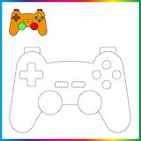 Colleghi i punti e la pagina di coloritura Foglio di lavoro - gioco per i bambini Linea tratteggiata di restauro - gioco della tr royalty illustrazione gratis