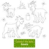 Colleghi i punti (famiglia delle capre, animali da allevamento) illustrazione di stock