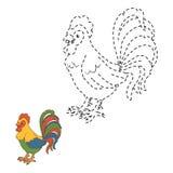 Colleghi i punti (gallo) illustrazione di stock