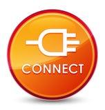 Colleghi il bottone rotondo arancio vetroso speciale illustrazione vettoriale