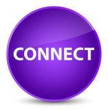 Colleghi il bottone rotondo porpora elegante illustrazione vettoriale