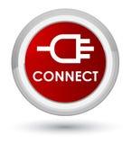 Colleghi il bottone rotondo rosso principale royalty illustrazione gratis