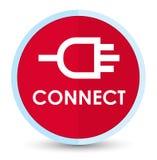 Colleghi il bottone rotondo rosso principale piano illustrazione di stock