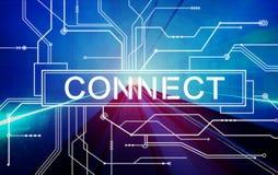 Colleghi il concetto collegato di unità della rete sociale royalty illustrazione gratis