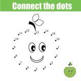 Colleghi il gioco dei bambini dei punti Gioco di numeri illustrazione di stock